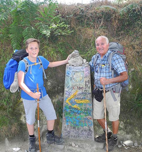Die letzten 120 km mit Enkel Luis Jr.